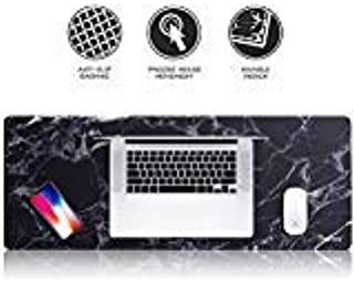 Insten Extra Large Mouse Pad, Marble Extended Computer Mouse Pad XL XXL for Desktop, with Waterproof Coating, Non-Slip Bas...
