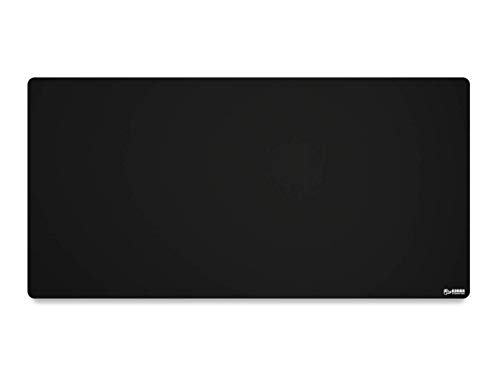 Glorious 3XL Extended Gaming Mouse Mat/Pad - Large, Wide (3XL Extended) Black Cloth Mousepad, Stitched Edges | 24'x48' (G-3XL)