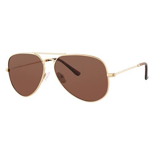 EFE Gafas de Sol Aviador Polarrizadas de Retro y Moda para Mujeres y Hombres Unisex Protección UV400 Contra los Rayos Ultravioletas para Pesca Senderismo Conducir Excursión Marrón
