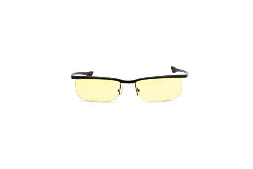 Gunnar Gaming- und Computerbrille | Model: Emissary, Rahmen: Onyx, Linse: Amber | Anti-Blaulicht-Brille | Patentierte Linse, 65% Blaulicht- & 100% UV-Lichtschutz zur Verringerung der Augenbelastung