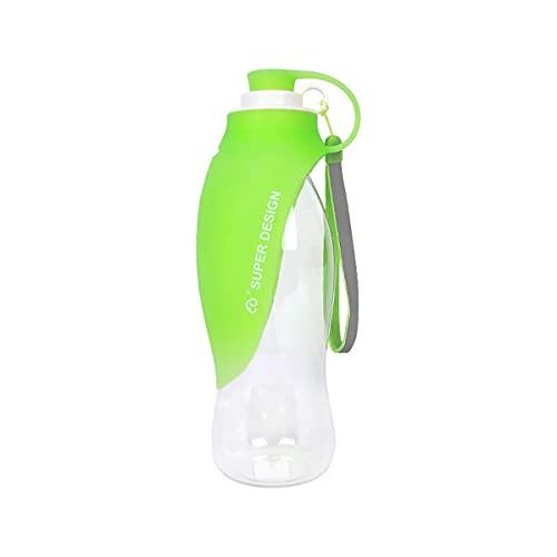LUHUANONG Mascotas Saliendo de Tazas Tipo de Hoja Portátil Al Aire Libre Beber Fuentes Perros Acompañantes Acompañantes Tazas Botellas de Agua Potable (Color : Green)