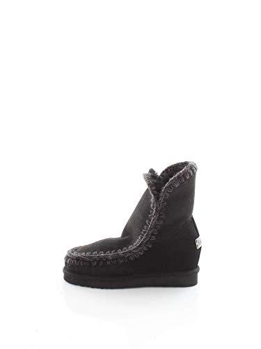 MOU Eskimo Inner Wedge Short Black, bota para mujer Mou, 37