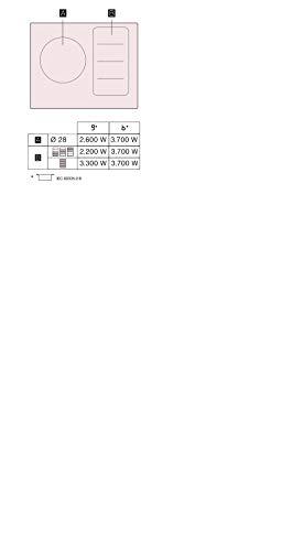 Bosch Serie 6 PXJ651FC1E Integrado Con - Placa (Integrado, Con placa de inducción, Vidrio y cerámica, Negro, LED, Tocar)