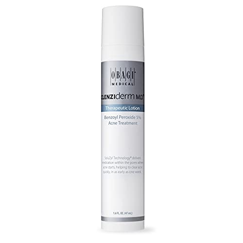 Obagi Medical CLENZIderm M.D. Therapeutic Lotion Benzoyl Peroxide 5% Acne Treatment, 1.6 Fl Oz Pack of 1