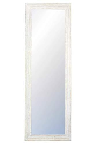 Chely Intermarket, Espejo nordico Pared 35x140cm(47x152cm)/Blanco-Nordico/Mod-110, Ideal para peluquerías, salón, Comedor, Dormitorio y oficinas. Fabricado en España. Madera Maciza.