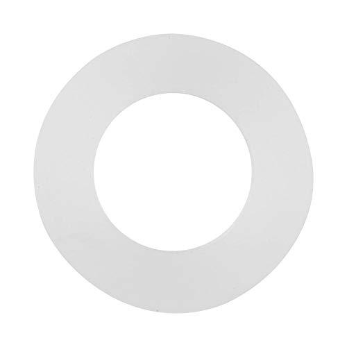 """12pcs Unterlegscheibe Silikon-Wellen-Sicherungsscheibe Weißer Silikon-O-Ring Dichtscheiben Dichtungs-Tüllen-Zusammenstellungs-Installationssatz für Balg-Schläuche(3/4"""")"""