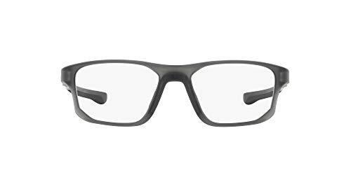 Oakley 0OX8136 Monturas de gafas, Satin Grey Smoke, 55 para Hombre