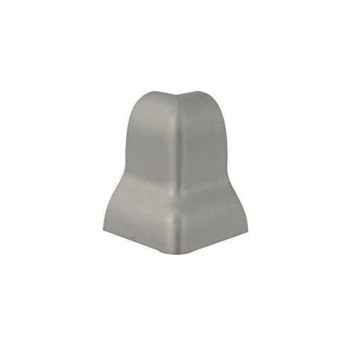 Trevendo® 10 Stück Außenecke silber für Sockelleiste Fußleiste geschwungen 40 mm Höhe