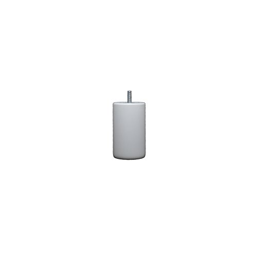 La Fabrique de Pieds Jeu de 4 Pieds de Lit, Bois, Laqué Blanc Mat, 10 x 6 x 6 cm