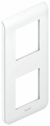 Legrand LEG78822 Plaque programme Mosaic 2 Modules vertical Blanc