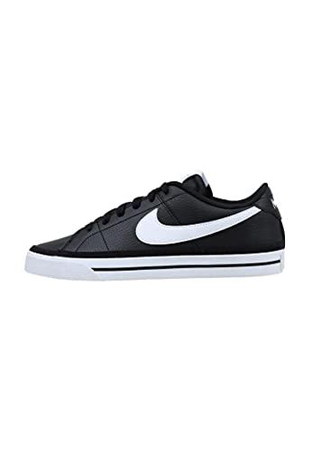 Nike Court Legacy, Zapatos de Tenis Hombre, Black White Gum Light Brown, 43 EU