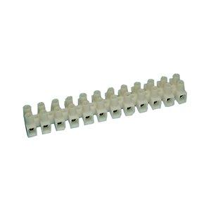 12 Position Euro Style Nylon Barrier Strip - 20 Amp : 13-1208