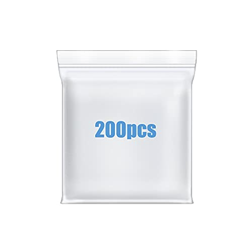"""200 Pcs 1.5"""" x 1.5"""" Small Thick Heavy Duty Clear Reclosable Zip Poly Lock Bags Durable Seal Resealable Zipper Bags Jewelry Earrings Pill Zip Bag"""