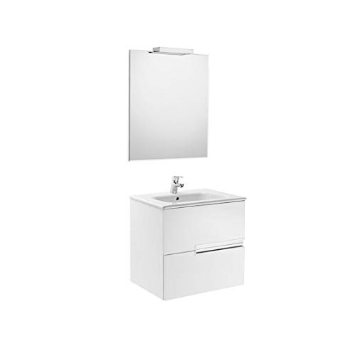 Roca A855844806 - Pack Victoria-N 600 Blanco (mueble, lavabo, espejo y aplique)