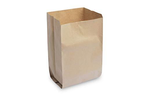 Hypafol Bio Papier Müllbeutel | abbaubare braune Biomüllbeutel für kompostierbare & biologische Abfälle und mehr | ohne Plastik | 2-lagig, Tüten mit 50 L Fassungsvermögen | 450x600+200 mm, 50 Stück