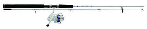 Eagle Claw MSSB802MS Surf Beast Spinning Combo, 8' Length, 2 Piece Rod, Medium Power, 5+1 Bearings, Glass
