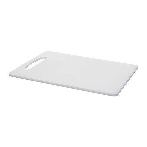 Ikea LEGITIM Schneidebrett weiß, Polyethylen, White, 34 x 24 x 0.8 cm