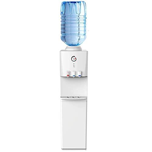 GOVITA Distribuidor de agua a columna refrigerante con boquillas, con frigorífico y dispensador de agua para oficina, agua o columna de tierra, bebidas calientes y frías.
