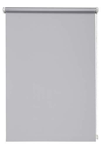 Thermo-rolgordijn grijs 60x210 cm zonder boren verduisteringsrolgordijn zijtrekrolgordijn klemrolgordijn blackout zilveren coating
