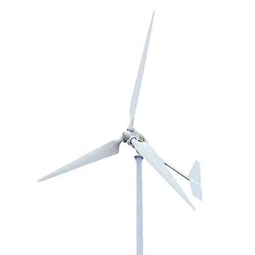 JANEFLY 1500W 2000W 3000W Generatore Eolico Orizzontale a 3 Pale Turbina 48V 96V Mulino a Vento con regolatore di Carica,3000w