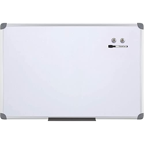 Quartet Magnetic Whiteboard, 2' x 3' White Boards, Dry Erase Board Includes One Quartet dry erase marker & Marker Tray, Home Office Accessories, Euro Style Aluminum Frame (UKTE2436-ECR)