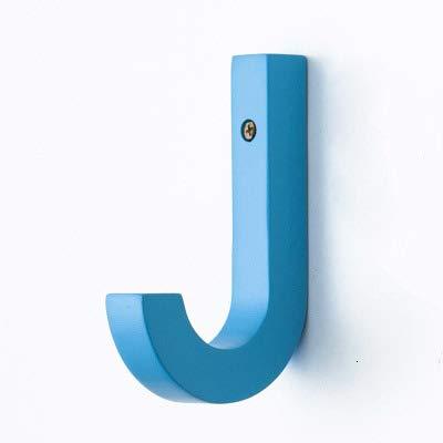 Heng Wood kapstok creatieve muurhanger moderne decoratieve hangers voor jassen Kledinghouder hangend, 1 stuks blauw