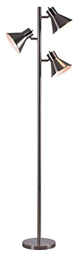 Kenroy Home 32838BS Ash Floor Lamps, Medium, Brushed Steel Finish