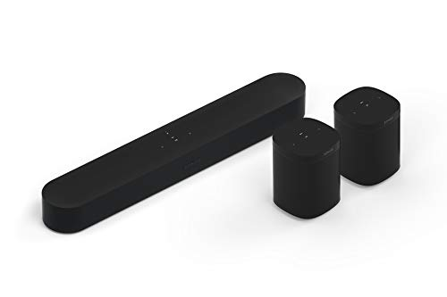 Sonos Beam WLAN Soundbar Speaker | Heimkinoset (5.0 | Beam + 2X One SL, schwarz)