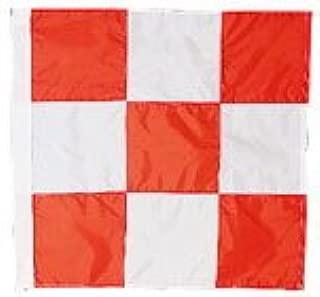 orange white checkered flag