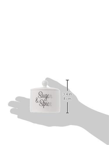 Kate Aspen Ceramic Sugar Bowl, Spice and Everything Nice
