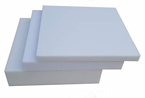 Schaumstoff Schaumstoffplatte Matratze 40cm x 40cm RG 25/44 Höhe 2 cm bis 10 cm Grau Mittelhart (40x40x2)