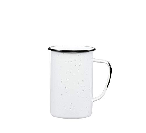 Cinsa 6 Pieces 21OZ Enamel Mug Set. Ideal Camping Coffee mug, Tea, Water in Outdoors activities. Durable, Dishwasher safe.