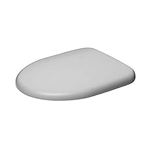 Duravit 0069690000Toilet Seat with SoftClose Hinges Stainless Steel White