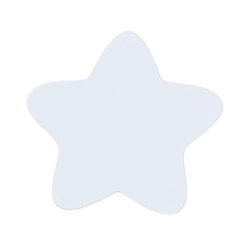 SparY Gancho de Pared, Madera Estrella Lindo Colgador Almacenaje Dormitorio Casa Fácil de Instalar Pintado Multiuso Moderno Toalla Ropa Ecológico Habitación Infantil Decoración - Blanco, Free Size