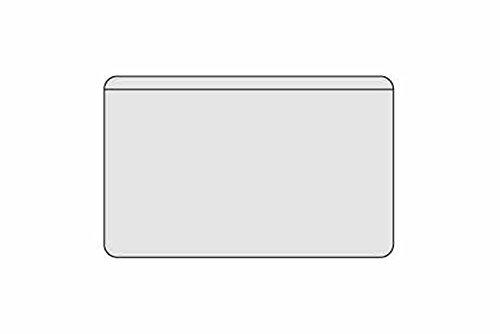 Adarei Selbstklebe-Hüllen für Visitenkarten, eine lange Seite offen, Inh. 100 Hüllen
