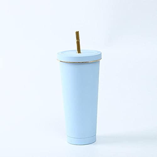 SDGSDG Botella de agua aislada de acero inoxidableDrug cup large capacity portable thermos cup-blue_750MLpara fitness, gimnasio, senderismo, bicicleta, yoga,