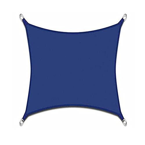 sun shade sail Toldo de poliéster impermeable con protección UV para exteriores, patio, jardín, patio, patio, arena, 5G7X4S (color: azul, tamaño: 3 x 4 m)