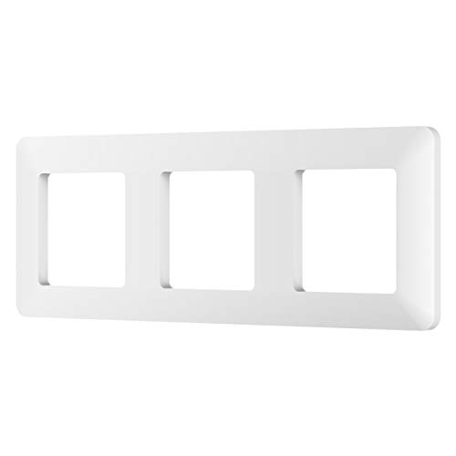 MoKo Placa de Pared Universal, [1 PZS / 3 Gang] Placa de Pared para Interruptor de Llave, Enchufe Inteligente, Combinación Perfecta Flexible con Absorción Magnética - Blanco