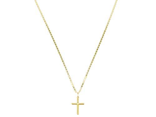 Cordão Corrente Masculina Ouro 80cm Pingente Cruz Crucifixo Ouro 18k Cadeado