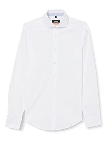 Seidensticker Seidensticker Herren Business Hemd Slim Fit - Bügelfreies, schmales Hemd mit Kent-Kragen - Langarm - 100% Baumwolle