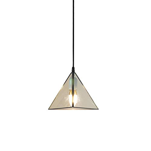 YXZQ 3D Geometric Glass Chandelier Modern Creative Pendant Light Kitchen Canteen Loft Ceiling Lamp - Pentagons