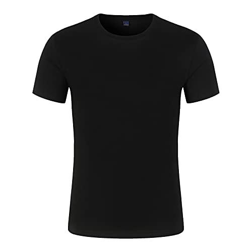 Nuevo 2021 Camiseta Hombre Manga corta Verano Color sólido Moda Diario Suelto Casual T-shirt Pesado Camiseta Blusas camisas originales Cuello redondo suave Cómodo básica Deportes Fitness camiseta