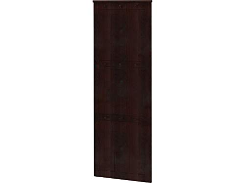 Loft24 Garderobenpaneel Kiefer Massivholz Wandgarderobe Flurgarderobe Landhaus Garderobe Garderobenleiste Dunkelbraun 9 Kleiderhaken 50 x 2 x 140 cm