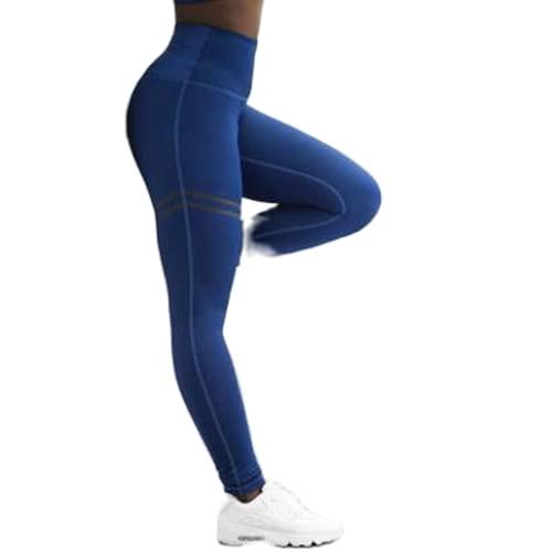 QTJY Leggings de impresión de Doble Bucle Americana Pantalones de Yoga de Cintura Alta Estiramiento de Estiramiento de Cadera Pantalones Deportivos CS