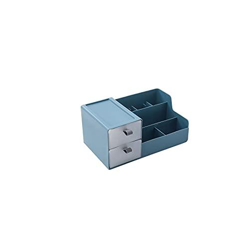 WUYOUNYL 1pc Organizador de Almacenamiento Ornamental Sundries Organizer Caja de Escritorio con cajón (Color : Blue)