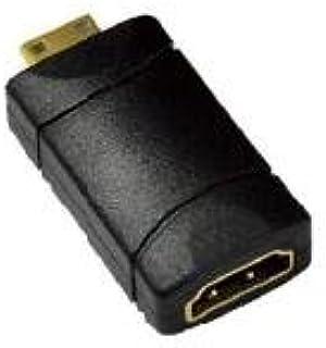 Nilox HDMI F - Mini HDMI M - Adaptador para Cable (Macho/Hembra, Mini-HDMI, HDMI 19, Negro)