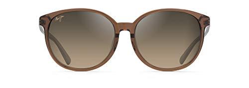 Maui Jim Gafas de sol para mujer con ajuste asiático, marrón (Caramelo con rosa pálido/bronce Hcl polarizado), Medium