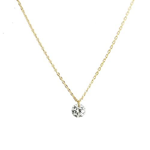ShSnnwrl Colgante Collar de Plata de Ley 925, Collar con Colgante de circonita única para Mujeres y niñas, joyería Fina, Todo com