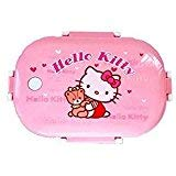 CLOUD 9 Girls Cartoon Character Steel Insulated Lunch Box…(Hello Kitty))