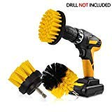 RAIN QUEEN Drill Brush 10Pcs Electric Cleaning Brush Power Scrubbing Brush Drill Fixing bohrmaschine bürsten Fliesen Auto Cleaning Set Power Brush Set(Gelb Set3)